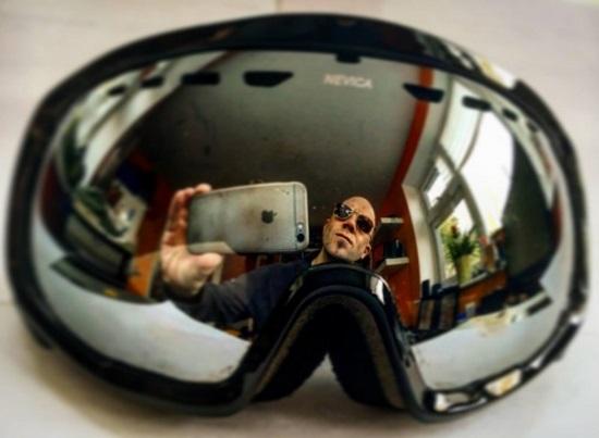 Ski goggles selfie, 2015