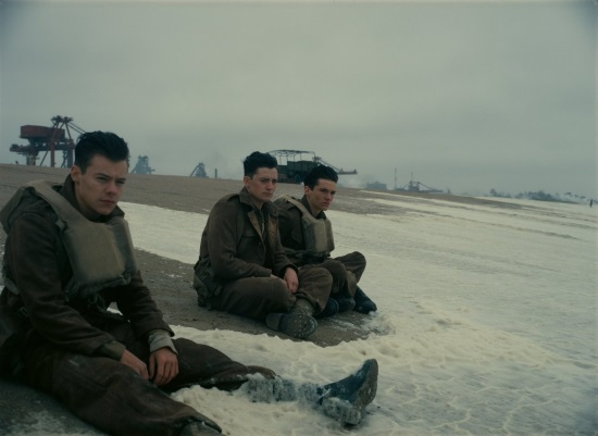 Harry Styles, Aneurin Barnard and Fionn Whitehead - Dunkirk